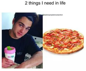 dylan, life, and pizza image