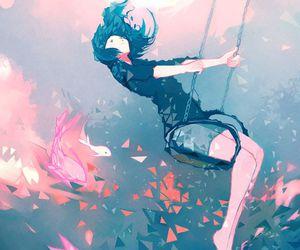 anime girl, art, and fantasy image