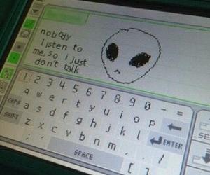 alien, grunge, and sad image