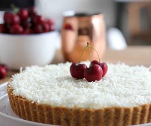 cake, food, and cherry image