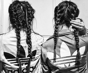 adidas, friends, and hair image