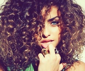 hair, eyes, and curly hair image