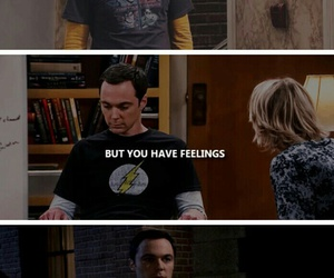 feelings, sheldon, and penny image