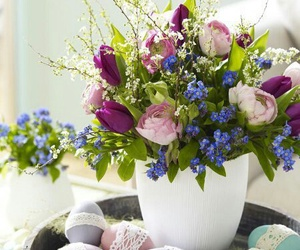 flowers and easter image