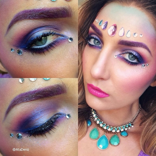 brow, jewels, and pink image