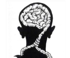 overthinking, happiness, and brain image