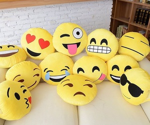 emoji, emojis, and pillow image