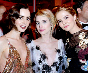 emma roberts, lily collins, and zoey deutch image