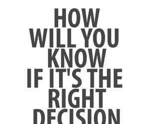 quote, decisions, and life image
