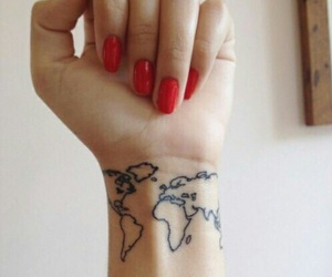 tattoo, world, and nails image