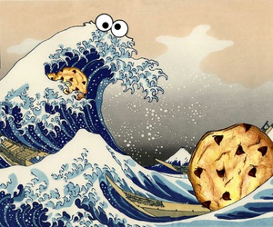 art, cookie monster, and food image