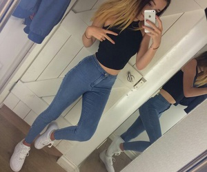 outfit, jeans, and grunge image