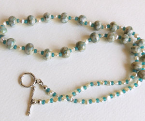 blue tones, freshwater pearls, and etsy image