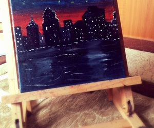 canvas, city, and city lights image