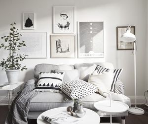 gray, home, and living room image