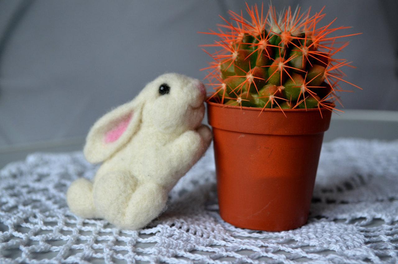 bunny rabbit, etsy, and fiber arts image