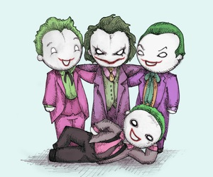 green, joker, and heath ledger image