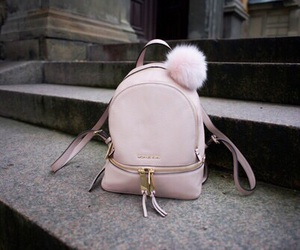 pink, bag, and backpack image