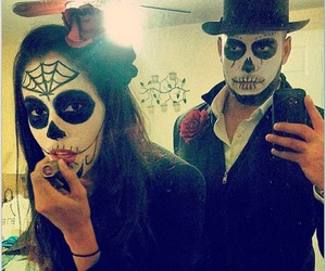 costumes, couple, and Halloween image