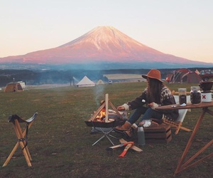 freedom, hipster, and mount fuji image