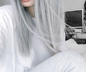 hair, tumblr, and grey image