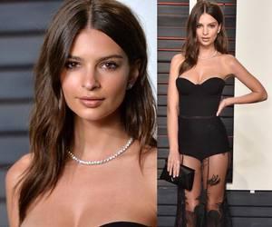 dress, black, and model image