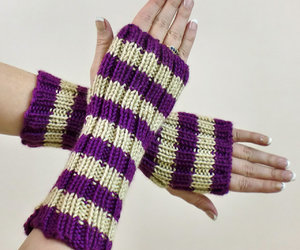 beige, gloves, and purple image