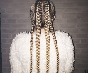 blond, braids, and girl image