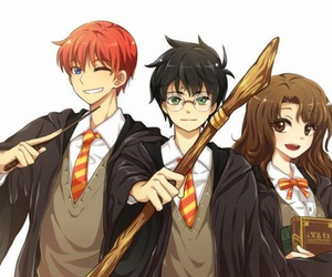 harry potter, ron weasley, and griffindor image