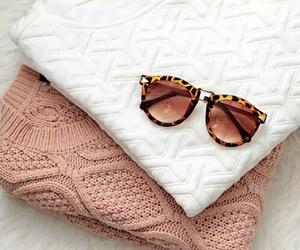 fashion, sweater, and sunglasses image
