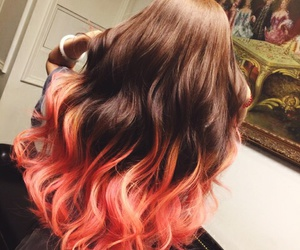 hair, girl, and orange image