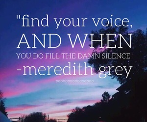 inspire, meredith grey, and phrases image