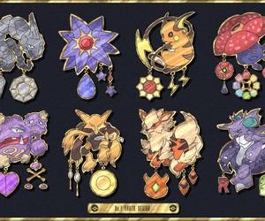 pokemon, arcanine, and onix image