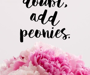 peonies and quotes image
