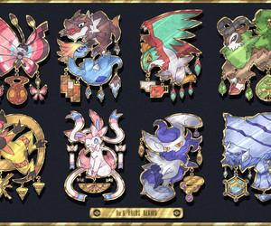pokemon, pokemon badges, and sylveon image