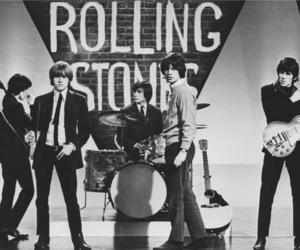 the rolling stones, band, and black and white image