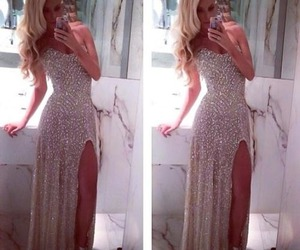 dress, Prom, and glitter image