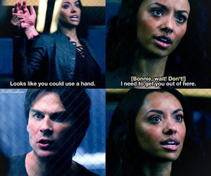 ian somerhalder, bonnie bennett, and damon salvatore image