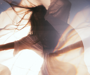 brunette, woman, and sun image