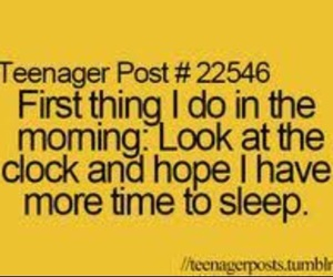 morning, sleep, and teenager post image