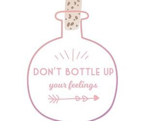 arrow, bottle, and feelings image