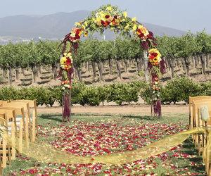 aisle, dream wedding, and flower image