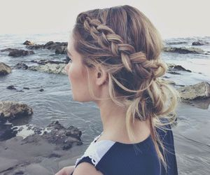 hair, braid, and beach image