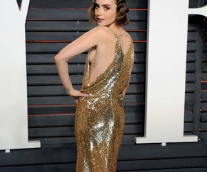 lily collins, after-parties, and oscar 2016 image