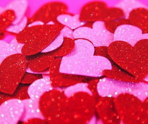 pink, red, and hearts image