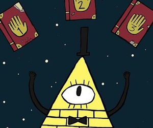 gravity falls, background, and bill image