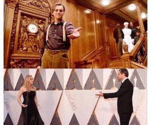 titanic, oscar, and leonardo dicaprio image