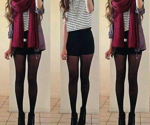 black, boots, and scarf image