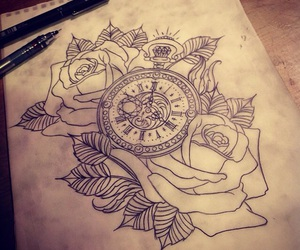 rose, tattoo, and body image