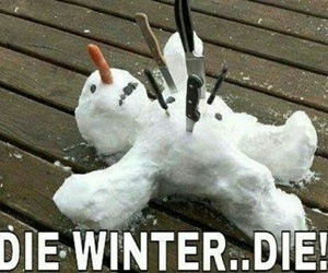 winter, die, and snowman image